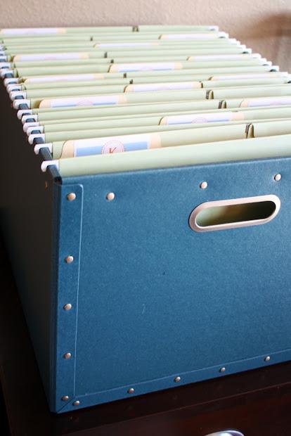 Organizing School Paperwork Storage