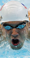 Swimmer Michael Phelps; photo by Timothy Clary/AFP/Getty images