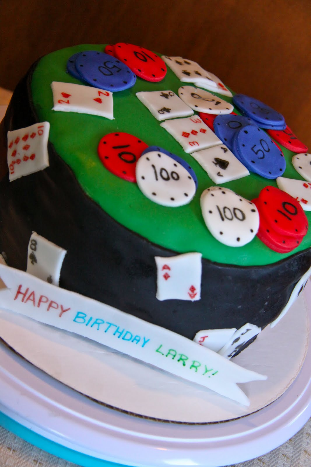 Cakes By Krista Sidhu Happy Birthday Grandpa Poker Table Cake
