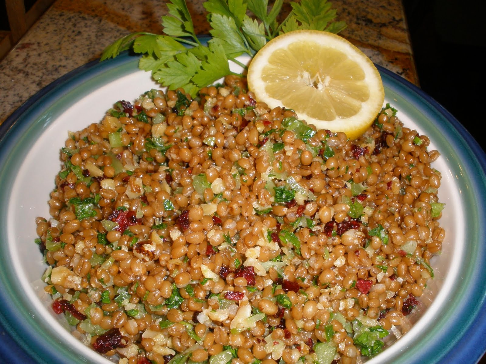 Domestic Diva Dishes: Wheat Berry Salad