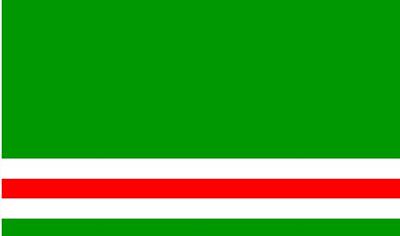 الملامح الجغرافية و السكانية و لغة و ديانة أهل الشيشان Chechen+flag