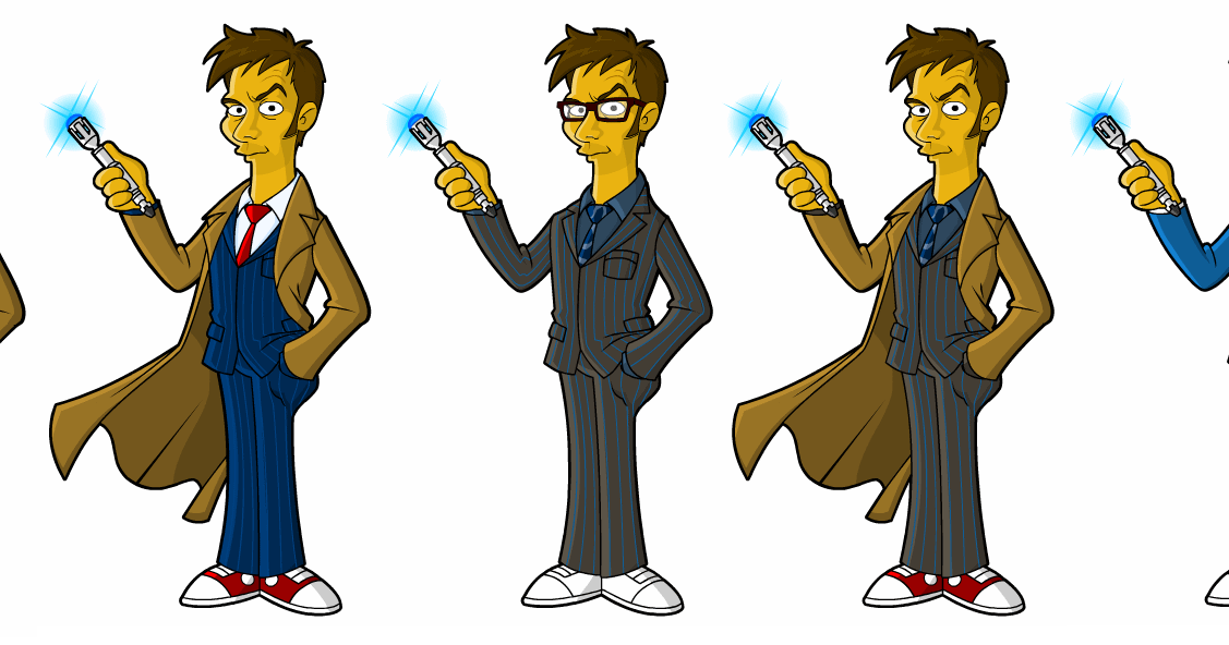 El Condensador De Fluzo: Doctor Who - Simpsonizado el 10º Doctor ...