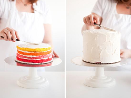 Rainbow Cake And 100th Post Sugar And Charm Sugar And Charm