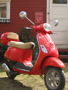 Vespa parking only!