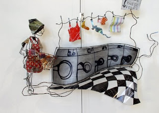 Lynn Walters metal wire sculpture - Are These Yours?