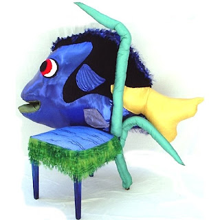 Children fish chair