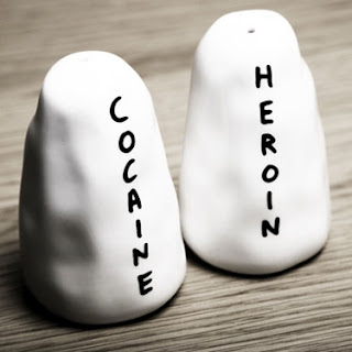 Heroin and Cocaine Salt and Pepper Shakers