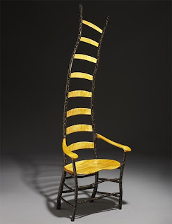 long yellow stripes chair