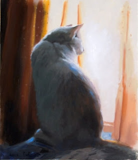 cat painting by Hagit Shahal