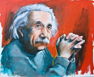 Albert Einstein painting by Hagit Shahal