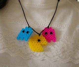 Pixel Pacman geek necklace