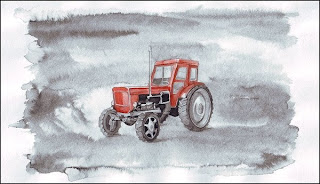 Vehicles Illustrations - tractor