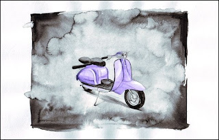 Vehicles Illustrations - motor scooter