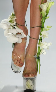 creative Shoes as Flower Vases