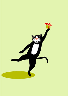 dancing cat illustration
