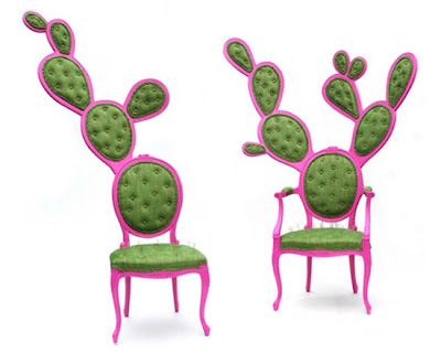 prickly green cactus chairs