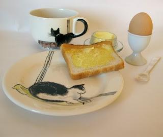 cat in a plate