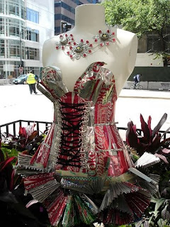 Recycled Coca-Cola Cans Art - Dress