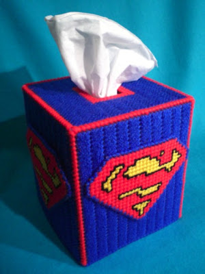 superman tissue box cover