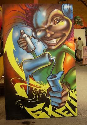 Dibujos para acompañar a los graffitis