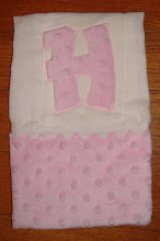 Burp Cloth- Pink Minky Dot with Applique letter