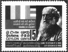 "Ceylon""s our hero, Colnol Henry Steel Olcott"