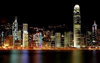 papel de parede Hong kong a noite