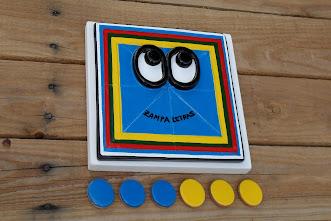 zampajuego 3 en raya, azul: 30 €
