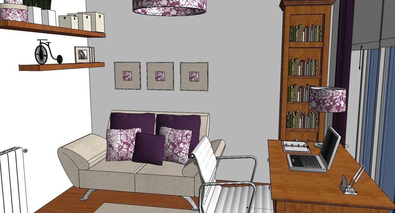 Victoria lemos mini sala gran desafio for Despacho con sofa cama
