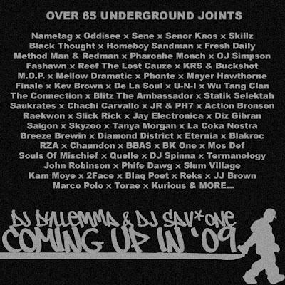 dj sav one dj dyllemma coming up in '09 mixtape playlist