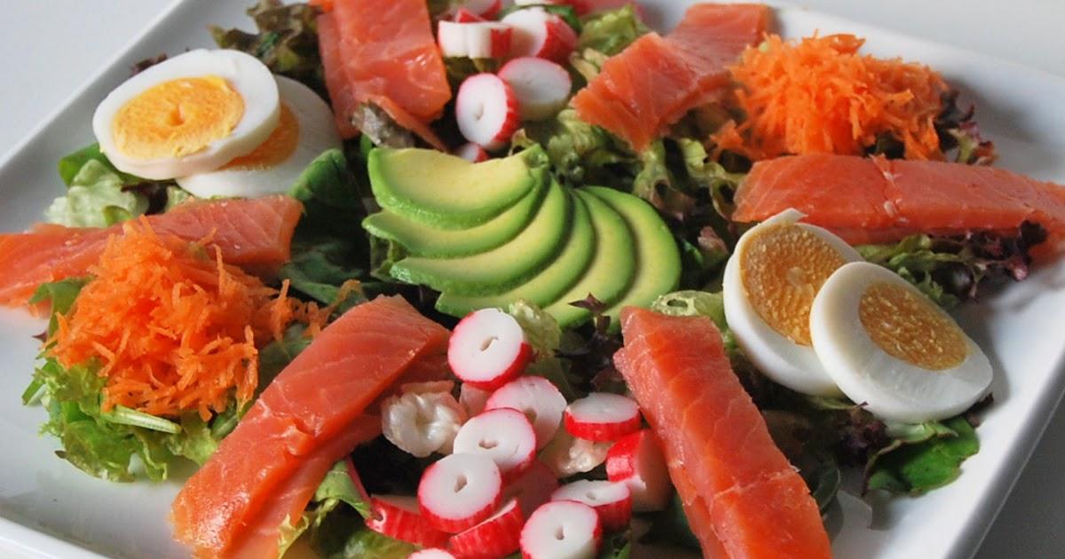Ensalada de salm n y aguacate l 39 exquisit - Ensalada salmon y aguacate ...