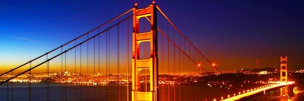 golden gate bridge san francisco sunrise skyline