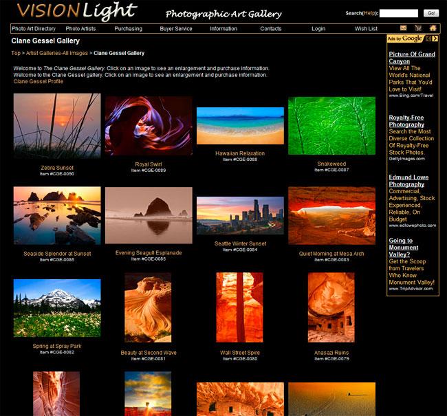 visionlight gallery