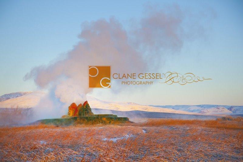 Fly Geyser near Gerlach and Reno, NV in Nevada's Black Rock Desert