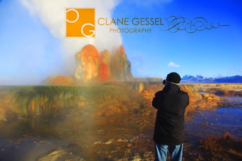 Fly Geyser in the Black Rock Desert near Gerlach, NV