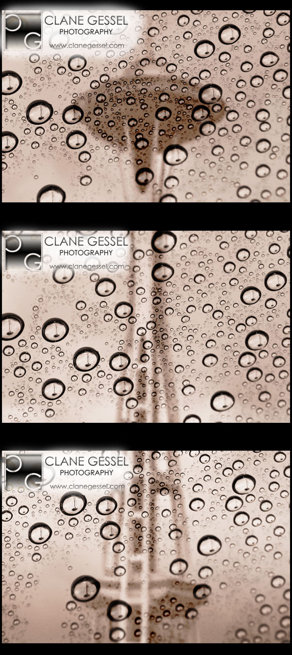 The Space Needle in the Rain picture photo photography clane gessel triple print Triptych