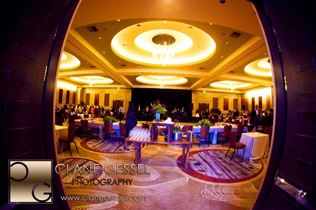 The olive 8 ballroom in downtown seattle by wedding photographer clane gessel. Seattle wedding venues
