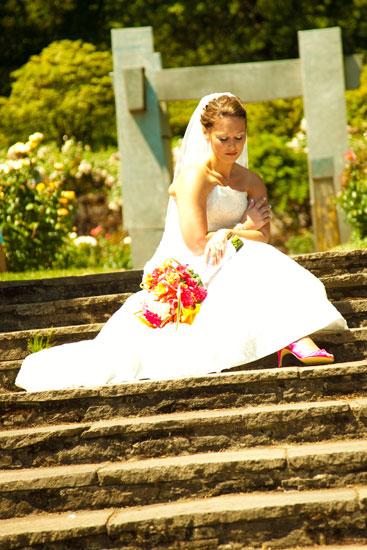 Portland rose garden wedding photography