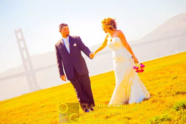 chrissy fields san francisco wedding photos, chrissy fields pictures san francisco, golden gate bridge wedding pictures