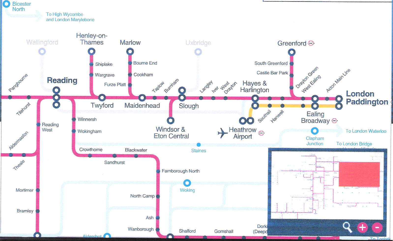 Transtrax Crossrail Where Is It Going - National rail map london