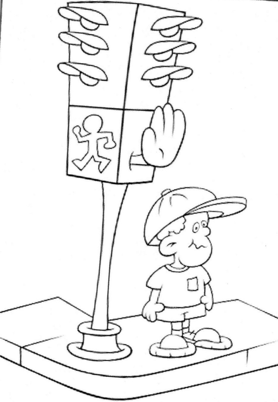 desenho de semáforo para colorir imagui