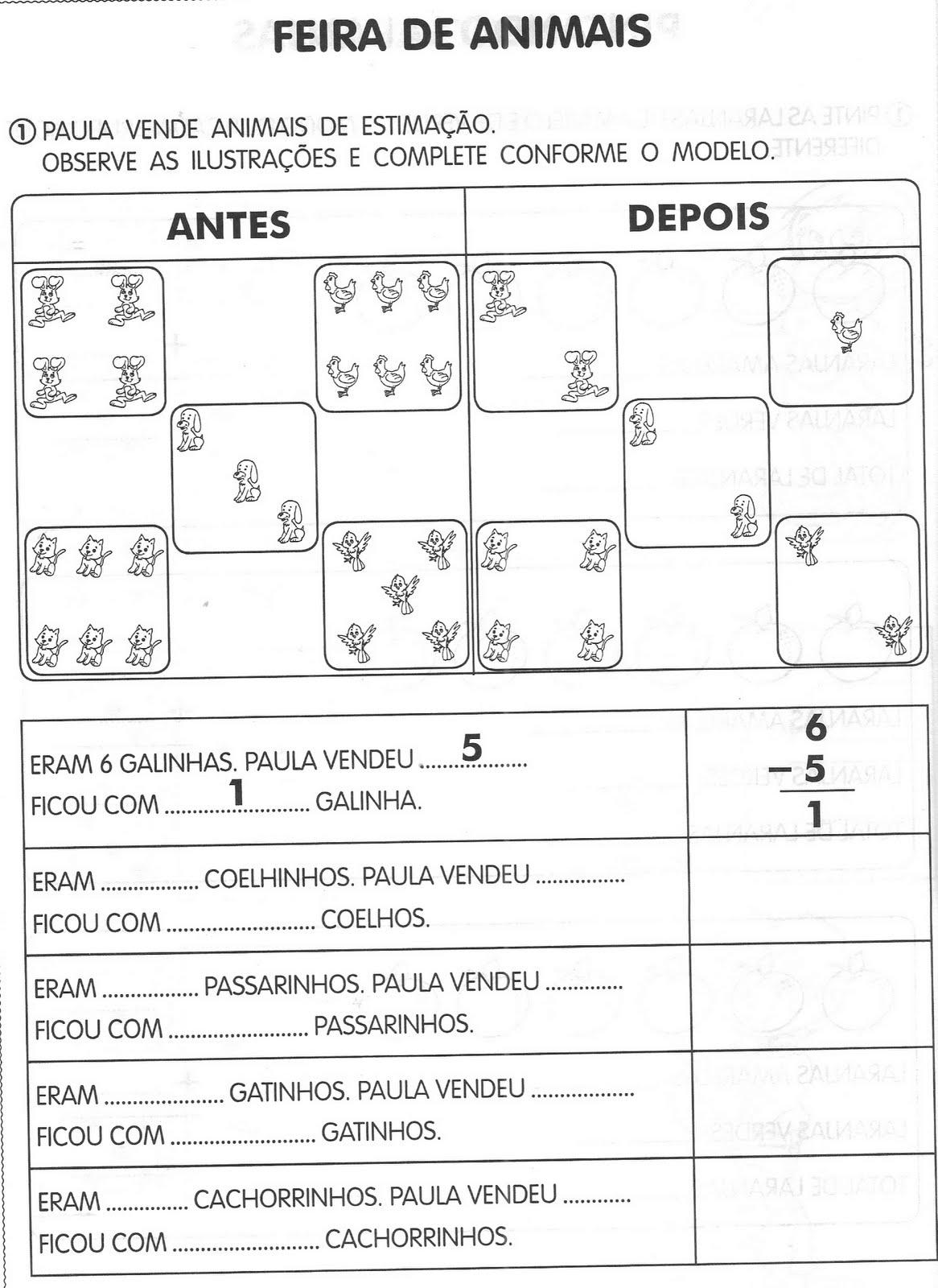 ATIVIDADES DE MATEM  TICA   ADI    O COM ANIMAIS 1   ANO