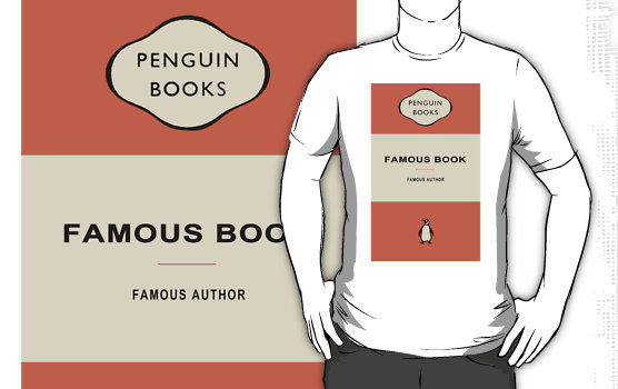 Penguin Book Cover T Shirts : The terrier and lobster penguins un books
