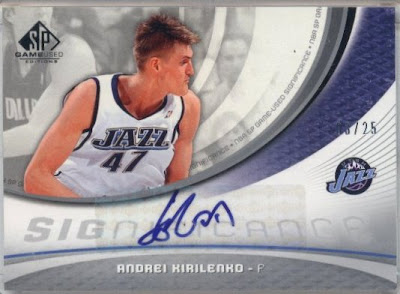 Cards Collection & Sports: Andrei Kirilenko Autograph Card - Error