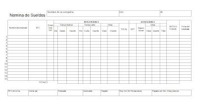 Nomina julio 2013 Formato para pago de nomina