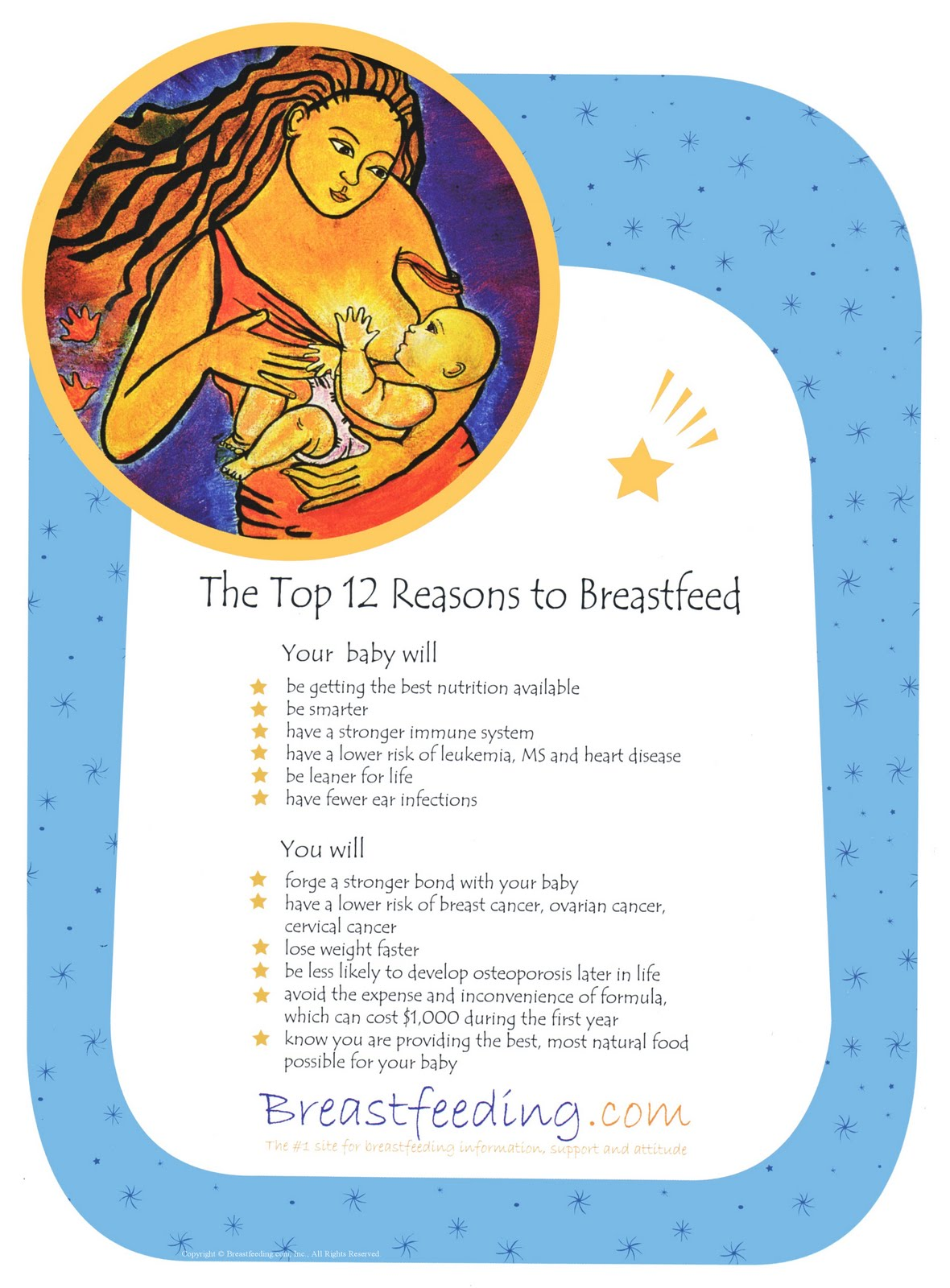 Breastfeeding is love reasons to breastfeed poster