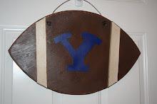 Y Football Door Hanger