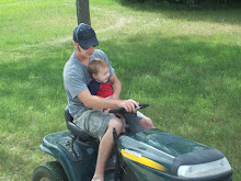 mowing the lawn with dad