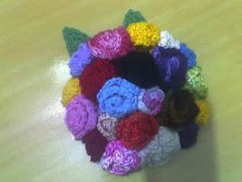 broche em crochê  flores