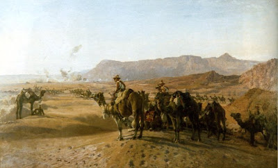 Верблюжий полк у Магдабы (1925), художник Септимус Пауэр. 'Camel corps at Magdhaba' (1925) by H. Septimus Power (1877–1951)